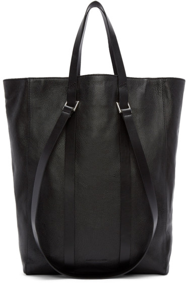 Costume National - Black Straps Leather Tote