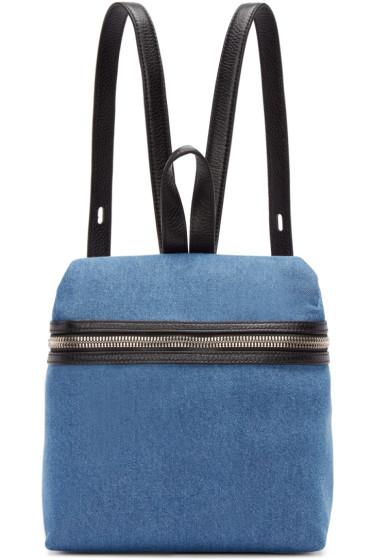 Kara - SSENSE Exclusive Blue Denim Small Backpack