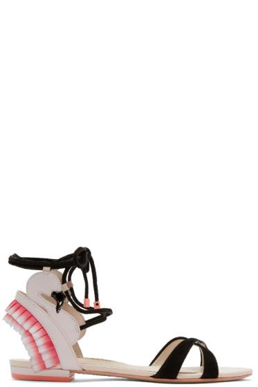 Sophia Webster - Pink Flamingo Frill Sandals