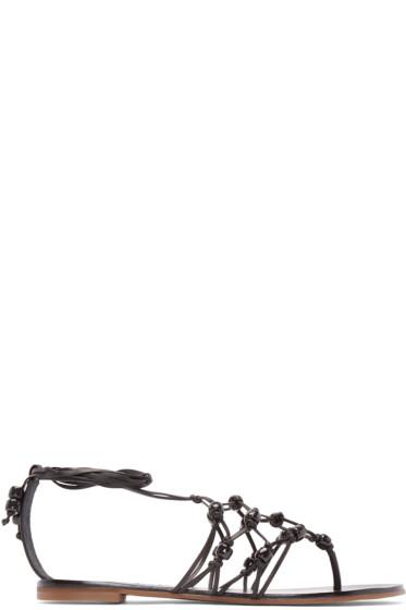 Sophia Webster - Black Leather Arielle Sandals