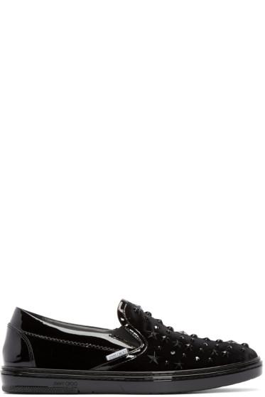 Jimmy Choo - Black Bejeweled Grove Sneakers