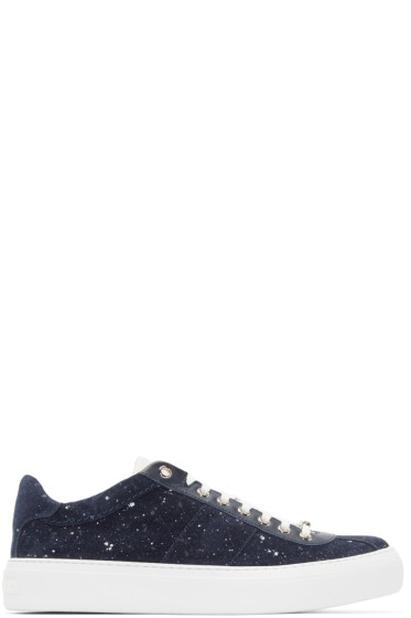 Jimmy Choo - Blue Spotted Portman Sneakers