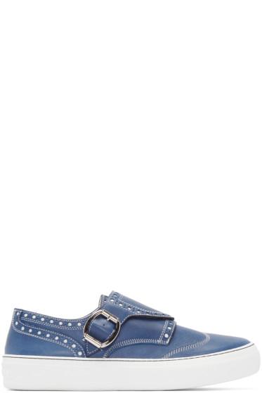 Jimmy Choo - Blue Leather Ross Sneakers