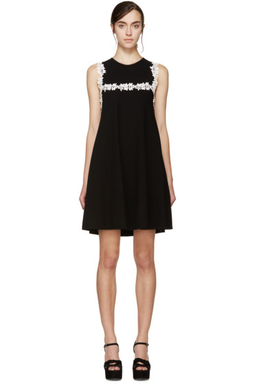 Giambattista Valli - Black & White Floral Lace Dress