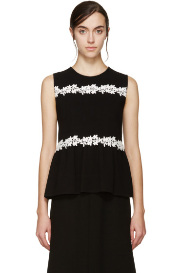 Giambattista Valli - Black Knit Daisy Blouse