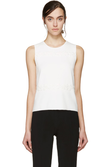 Giambattista Valli - White Floral Lace Tank Top