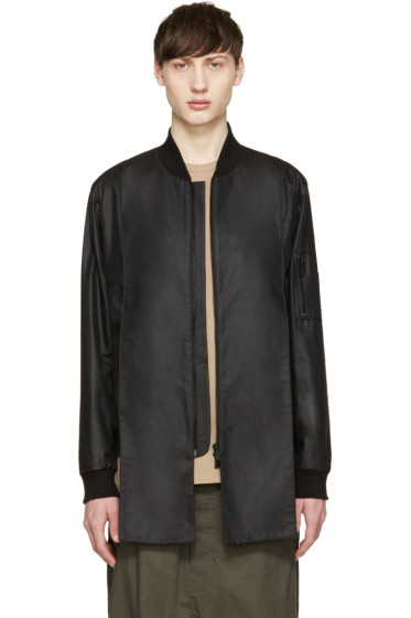 D.Gnak by Kang.D - Black Dragon Embroidered Bomber Jacket