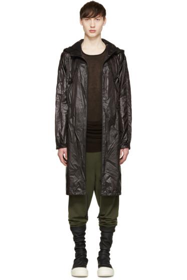 D.Gnak by Kang.D - Black Nylon Anorak Coat