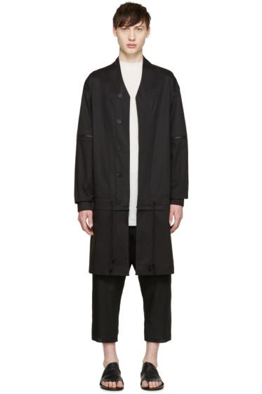 D.Gnak by Kang.D - Black Poplin Detachable Coat