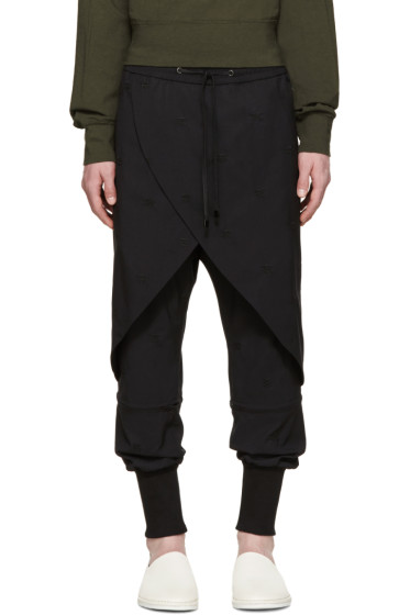 D.Gnak by Kang.D - Black Embroidered Lounge Pants