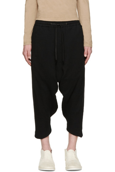 D.Gnak by Kang.D - Black Cropped Sarouel Trousers