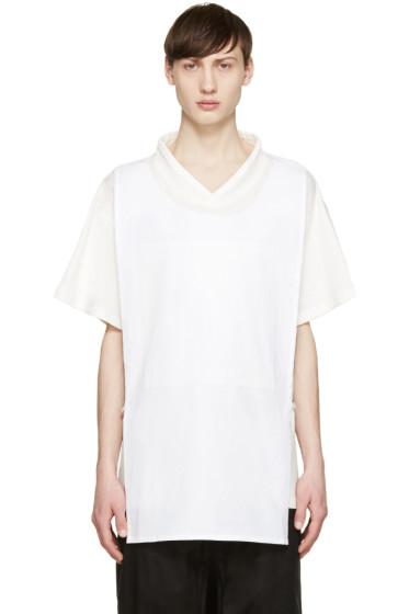D.Gnak by Kang.D - White Layered T-Shirt