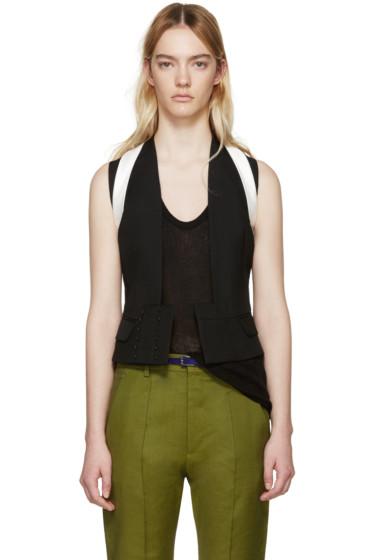 Haider Ackermann - Black Wool Orbai Waistcoat