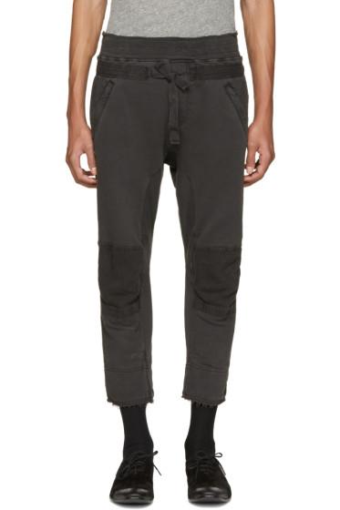 Haider Ackermann - Grey Distressed Biker Lounge Pants