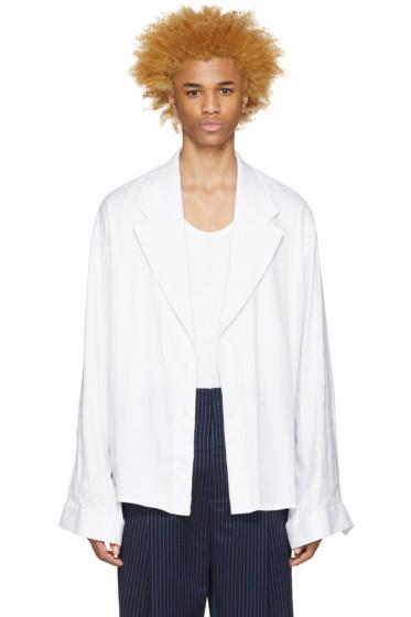 Haider Ackermann - White Linen Blazer
