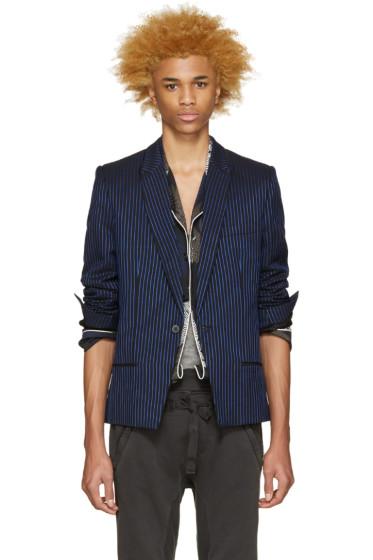 Haider Ackermann - Black & Blue Striped Blazer