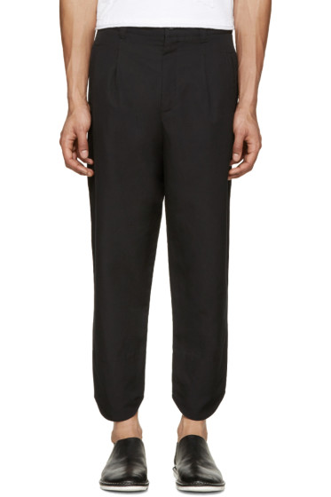 Alexandre Plokhov - Black Curved Cuff Trousers
