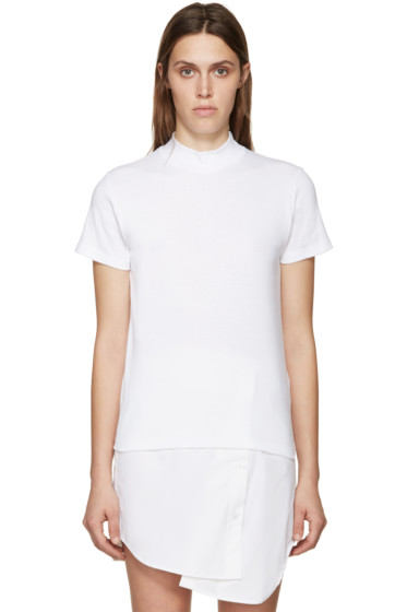 Jacquemus - White High Collar T-Shirt