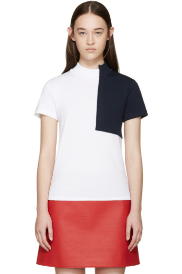 Jacquemus - White & Navy Square T-Shirt