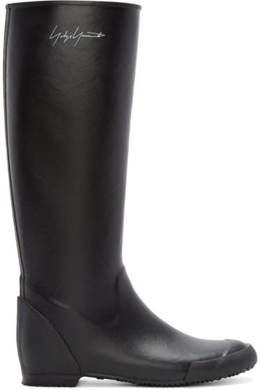 Yohji Yamamoto - Black Rain Boots