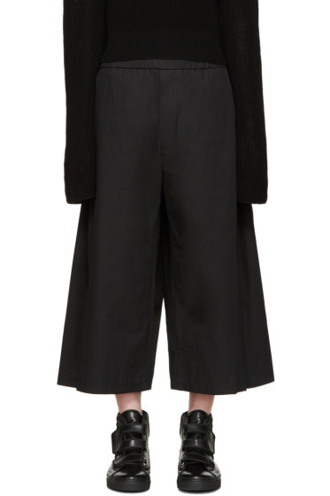 Lad Musician - Black Cropped Poplin Trousers