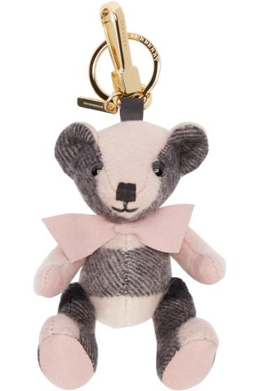 Burberry London - Pink & Black Cashmere Thomas Bear Keychain