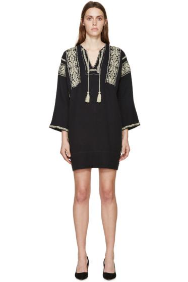 Isabel Marant Etoile - Black Embroidered Vinny Dress