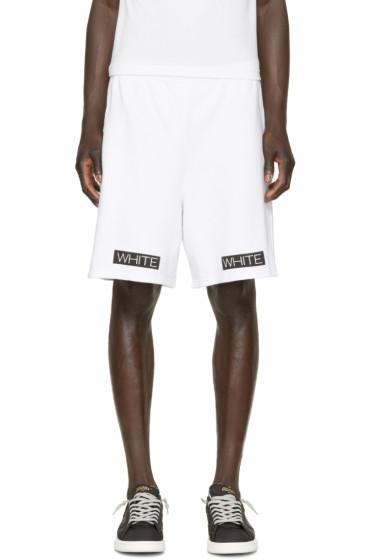 Off-White - White Blue Collar Shorts