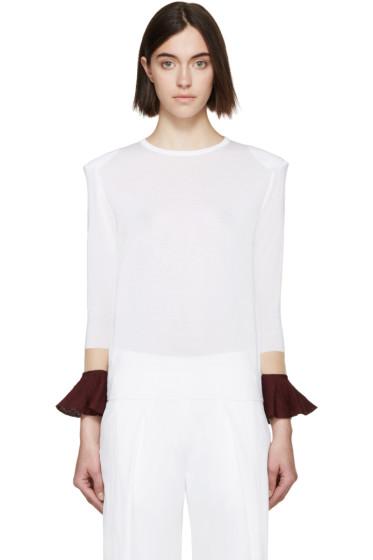 Toga - White Floating Sleeve Sweater