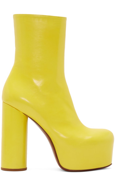 Vetements - Yellow Leather Chunky Boots
