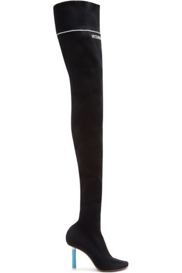 Vetements - Black Logo Sock Boots