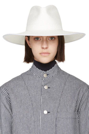 Clyde - White Straw Pinch Panama Hat