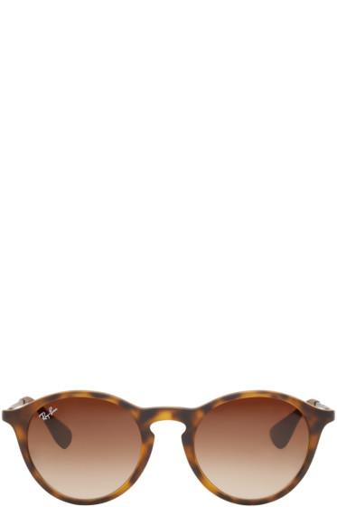 Ray-Ban - Tortoiseshell Round RB4243 Sunglasses