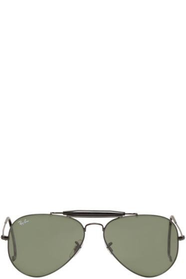 Ray-Ban - Black Outdoorsman Aviator Sunglasses