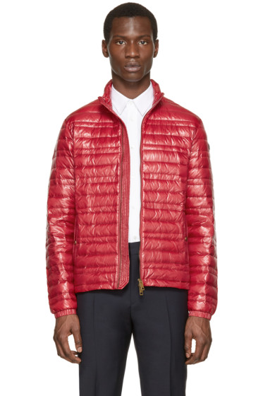 Burberry Brit - Red Lightweight Quilted Down Jacket