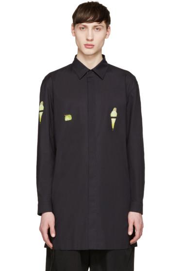Issey Miyake Men - Black Parrot Print Shirt