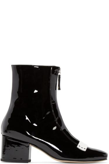 Dorateymur - Black Patent Leather Double Delta Boots