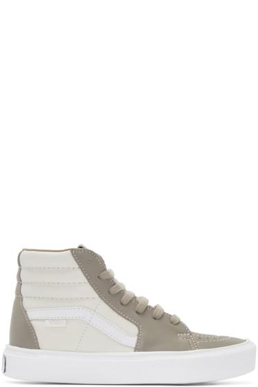 Vans - Taupe & Off-White Sk8-Hi Lite LX High-Top Sneakers