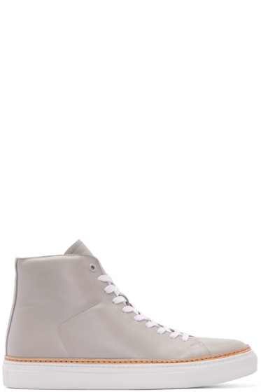 No.288 - Grey Leather Mulberry High-Top Sneakers