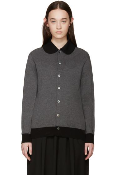 Tricot Comme des Garçons - Grey & Black Jersey Cardigan