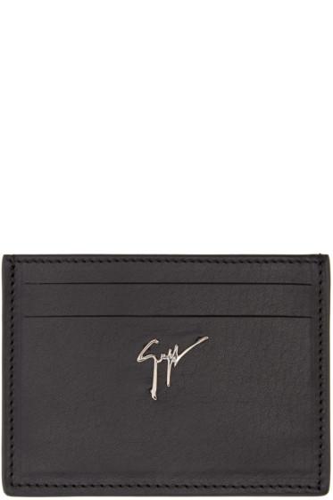 Giuseppe Zanotti - Black Leather Card Holder