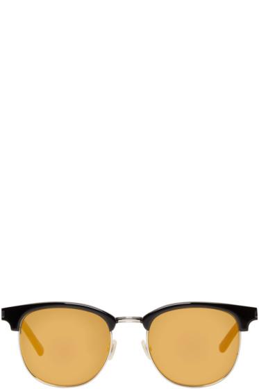 Saint Laurent - Black & Gold SL 108 Surf Sunglasses