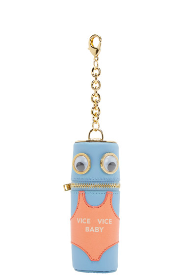 Sophie Hulme - SSENSE Exclusive Blue & Pink Vice Vice Baby Keychain
