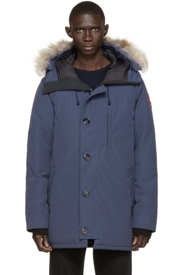 Canada Goose - Navy Down & Fur Spirit Chateau Parka