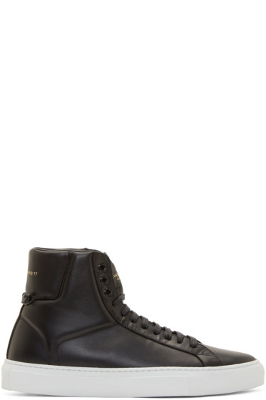 Givenchy - Black Codification High-Top Sneakers