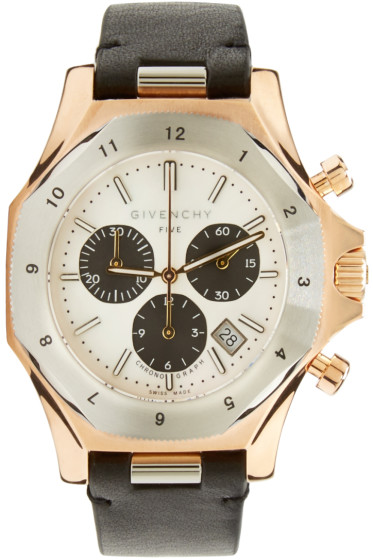Givenchy - Silver & Rose Gold Five Watch