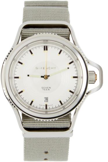 Givenchy - Grey & Silver Seventeen Watch