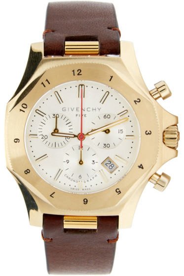 Givenchy - Brown & Gold Five Watch