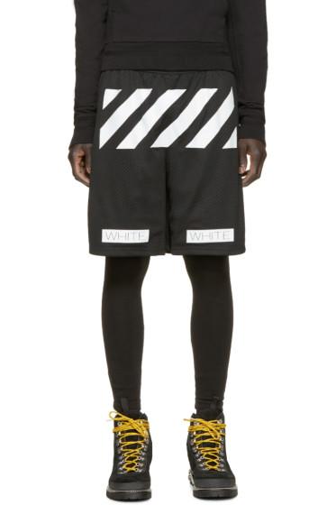 Off-White - Black Mesh Logo Shorts