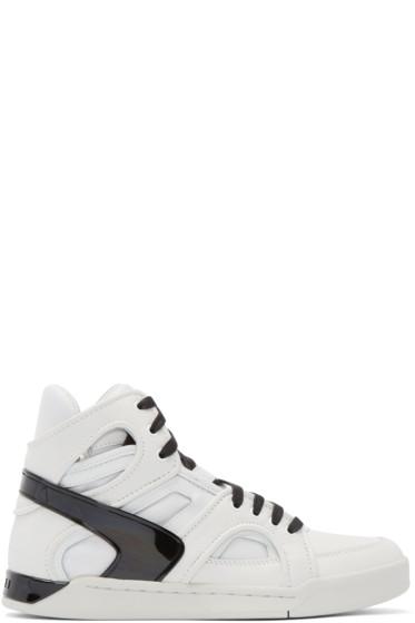 Diesel - White S-TITANN High-Top Sneakers